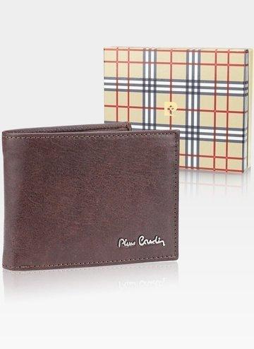 Skórzany portfel męski Pierre Cardin Tilak50 8805 RFID Brąz