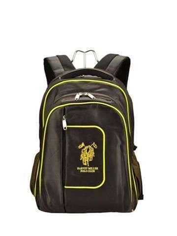 Harvey Miller Polo Club MON965 ciemny brąz + żółty