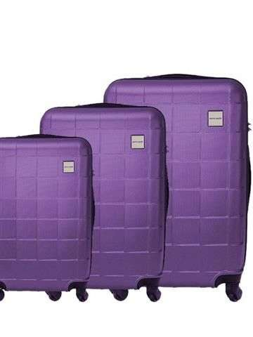 Komplet walizek 3w1 Pierre Cardin ABS1218 RUIAN02 x3 Z jasny fiolet