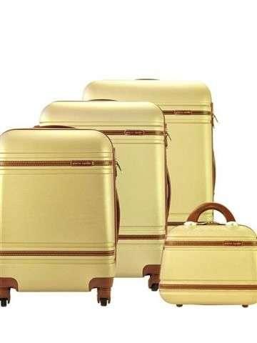Komplet walizek 4w1 A4 Pierre Cardin 877 LISA01 x4 Z złoty