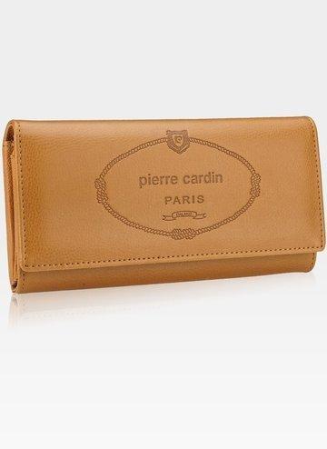 Luksusowy Modny Portfel Damski Pierre Cardin lady01 867 Jasny Brąz