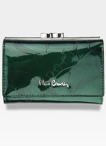 Portfel Damski Pierre Cardin Skórzany Zielony w Liście 117