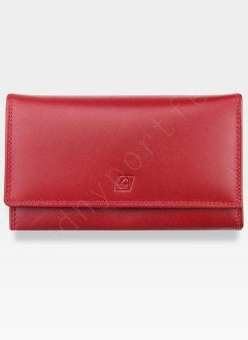 Portfel Damski Skórzany A-Art Elegancki Klasyczny Bigiel 3498/hlw29 Czerwony