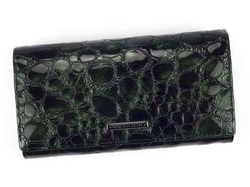 Portfel Damski Skórzany Gregorio FZ-102 zielony Skóra Naturalna Lakierowana