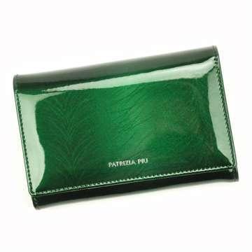 Portfel Damski Skórzany Patrizia Piu FF-112 RFID zielony Skóra Naturalna Lakierowana
