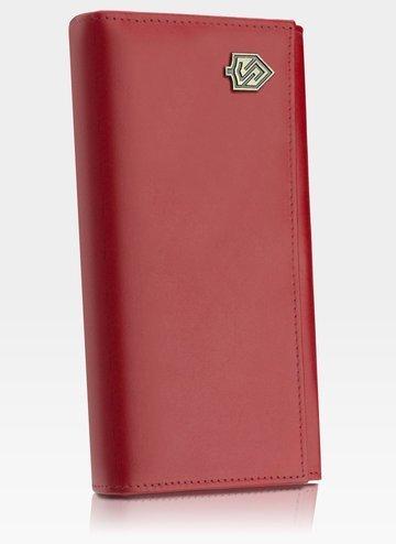 Portfel Damski Skórzany STEVENS Zasobnik Czerwony Z03-210 RFID