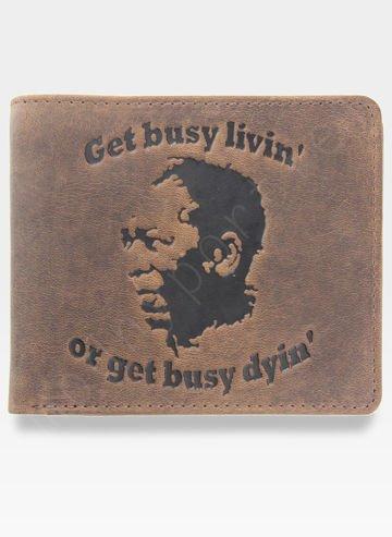 Portfel Męski Mustard Shawshank Get busy livin or get busy dyin Na prezent