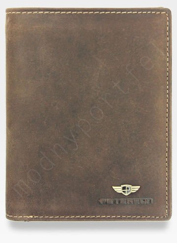 Portfel Męski Peterson Skórzany 339 Jasny Braz RFID