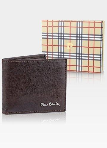 Skórzany portfel męski Pierre Cardin Tilak50 8824 RFID brąz