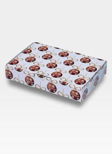 Tekturowe Pudełko Prezentowe na święta - mieści portfel / pasek lub etui