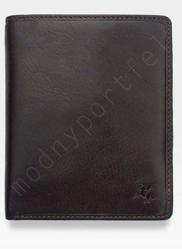 Viscont Bezpieczny Portfel Męski Skórzany Brązowy RFID TSC49