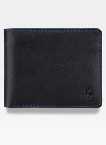 Visconti Portfel Męski Skóra SP61 Czarny Multikolor RFID Tap&Go