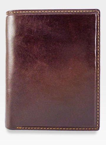 Visconti Portfel Męski Skóra Włoska MONZA MZ3 Brązowy RFID