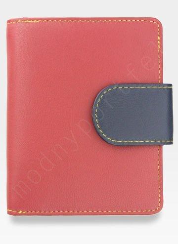 YOSHI Średni Portfel Damski Skórzany Czerwony Multi Y By Yoshi Y1101 26