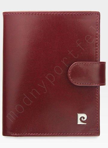 Zapinany Portfel Męski Pierre Cardin Skórzany Wiśniowy Premium YS507.1 326A