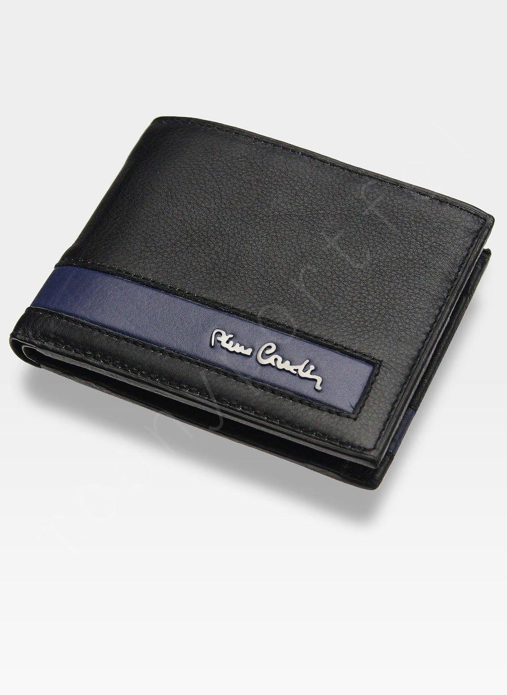 fce332b4fa3b0 Męski portfel prawdziwa skóra Blue Mirror Pierre Cardin Tilak26 8824 ...
