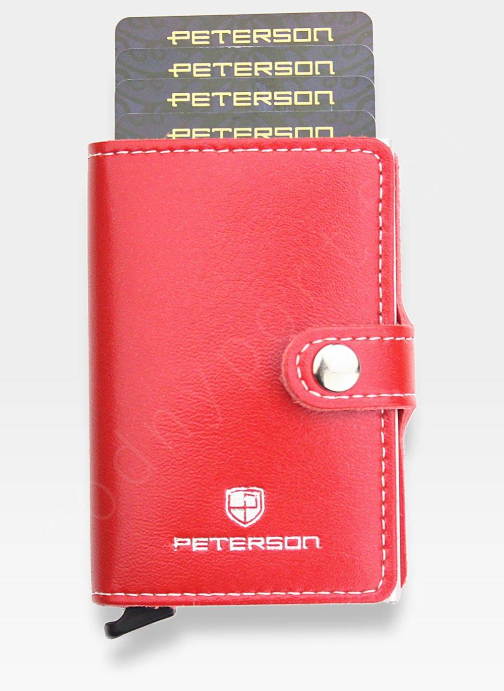 1f8719c2c6d85 Peterson Etui na Karty Automatyczne Aluminiowe Mały Portfel Slim ...