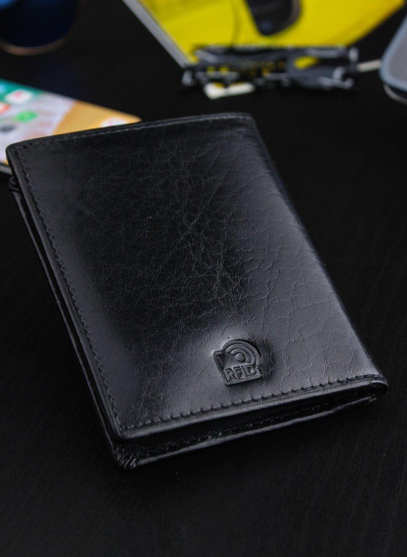 48402764efb4f Portfel Męski Peterson Z osobną Bilonówką SLIM System RFID STOP ...