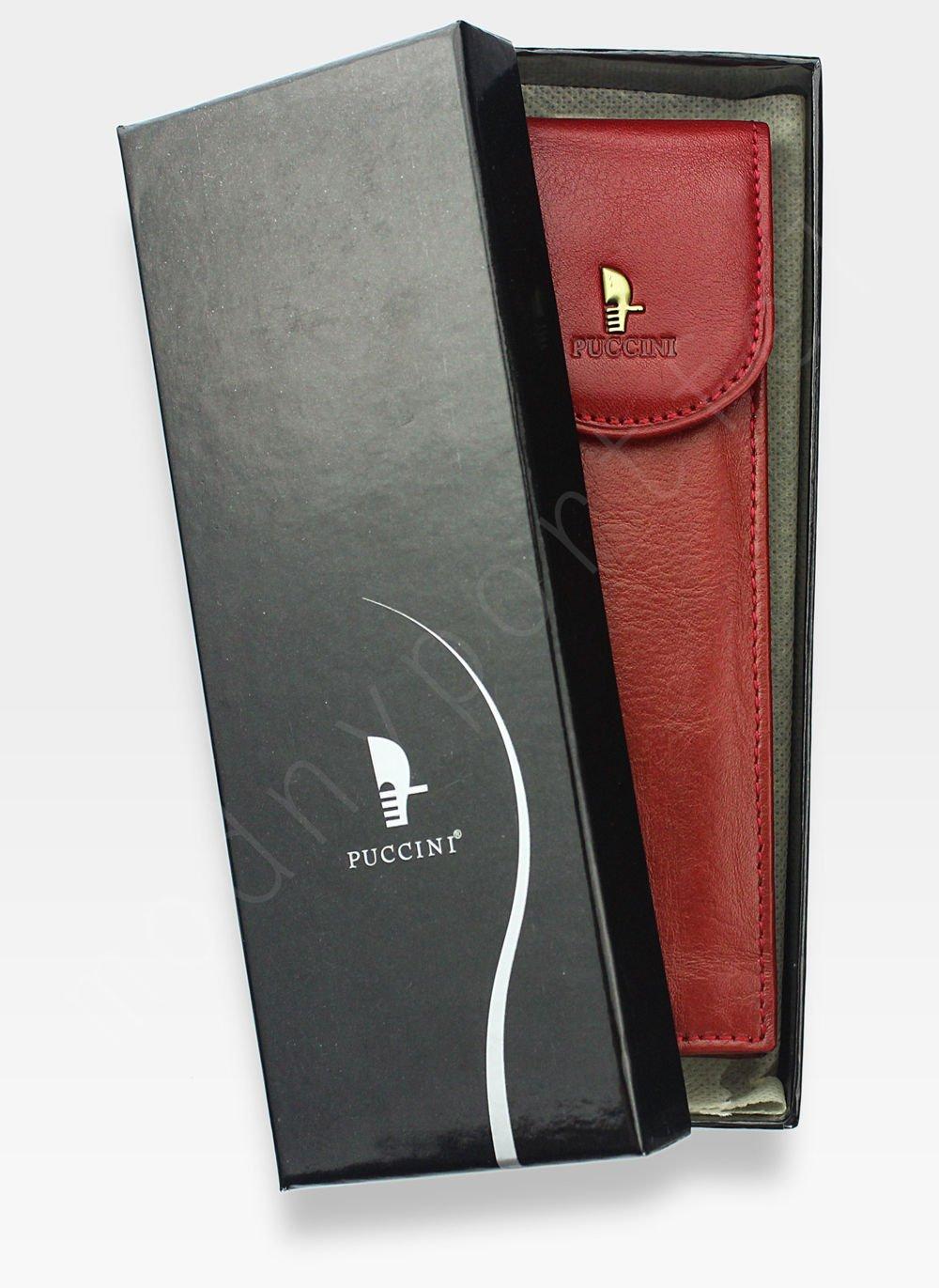 392c4c7264dba3 Skórzane Etui Na Długopis PUCCINI Czerwone 1802P P-1802 3 P-1802 3 RED