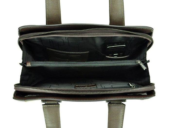 A4 Pierre Cardin LM50023 GP04 khaki + ciemny brąz