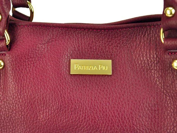 Damska Torebka Skórzana A4 Patrizia Piu 318-061 bordo