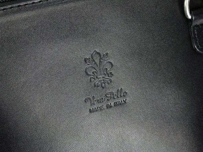 Damska Torebka Skórzana Barberinis 1702 granatowy + brąz