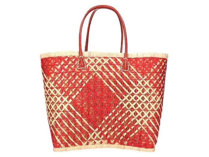 Damska Torebka ekologiczna A4 Glamour 70030 czerwony