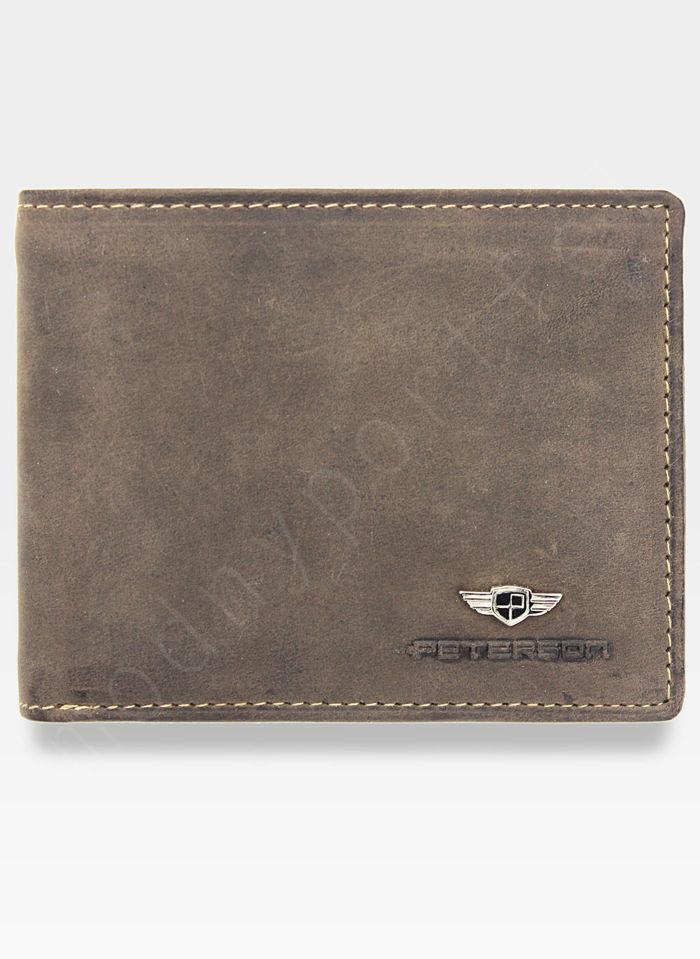 Kompaktowy Portfel Męski Peterson Skórzany 367 RFID