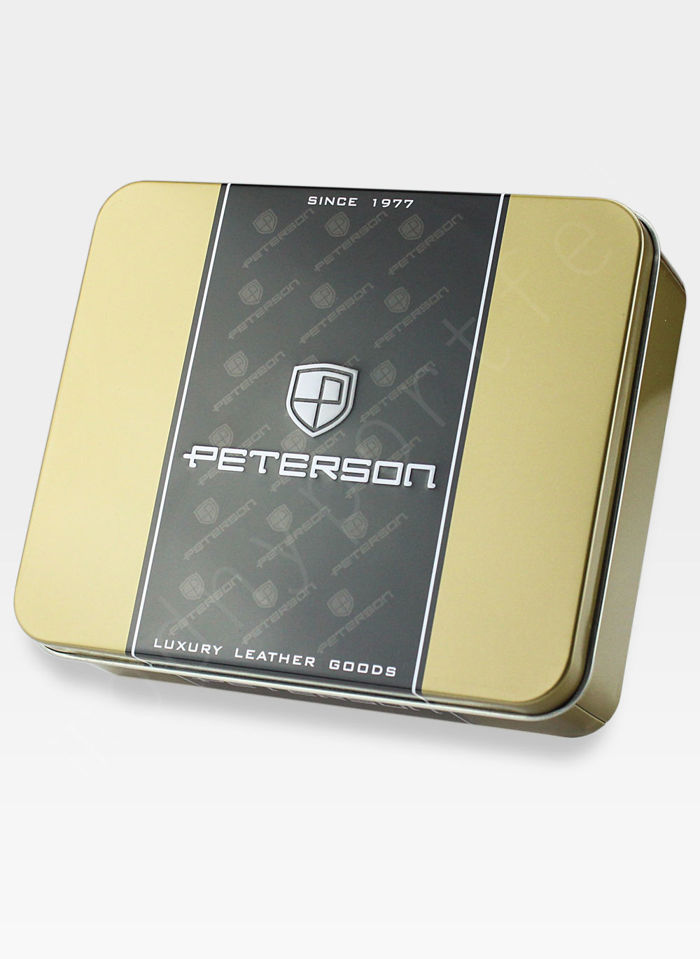 Kompaktowy Portfel Męski  Skórzany Peterson Czarny 322