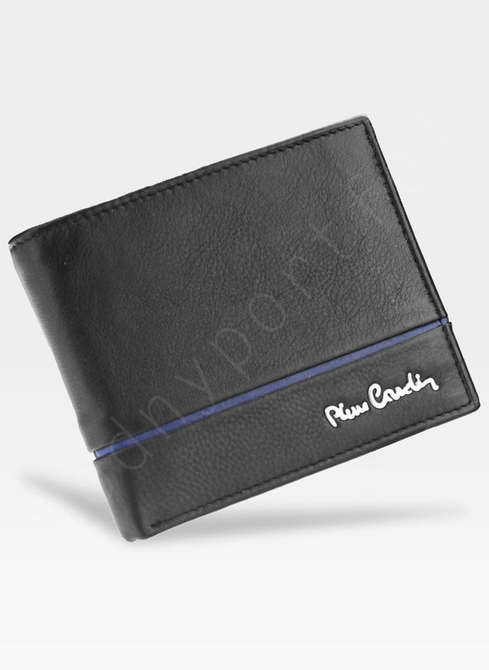 Męski portfel prawdziwa skóra Blue Mirror Pierre Cardin Tilak15 8824 RFID