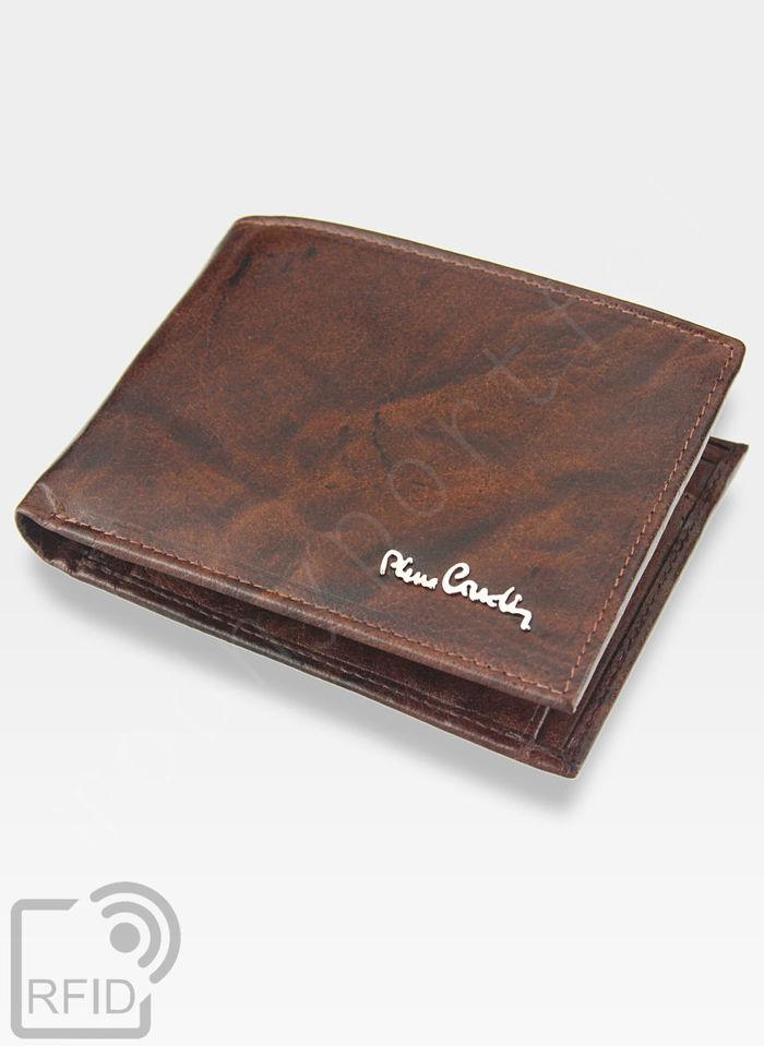 Modny Portfel Męski Pierre Cardin Oryginalny Skórzany Tilak12 8806 Brązowy RFID