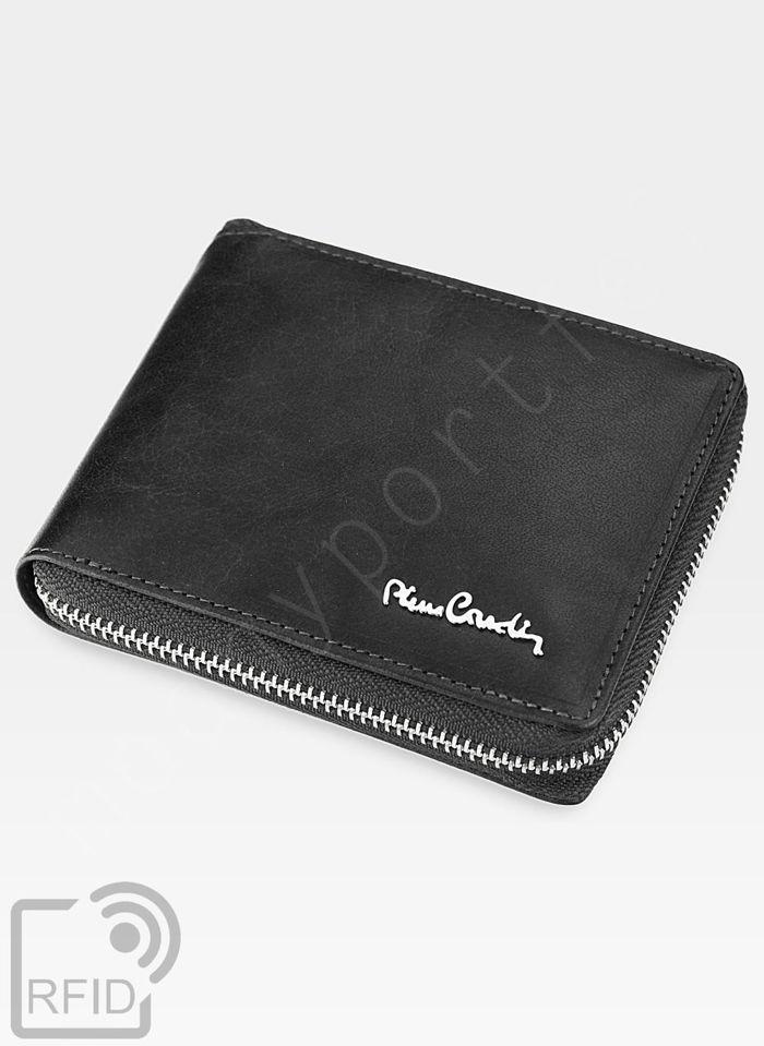 Oryginalny Portfel Męski Pierre Cardin Skórzany Zapinany Suwak Tilak12 8818 RFID