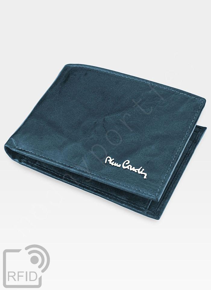 Pierre Cardin Męski Portfel Skórzany Modny Prezent Tilak12 325 Niebieski RFID