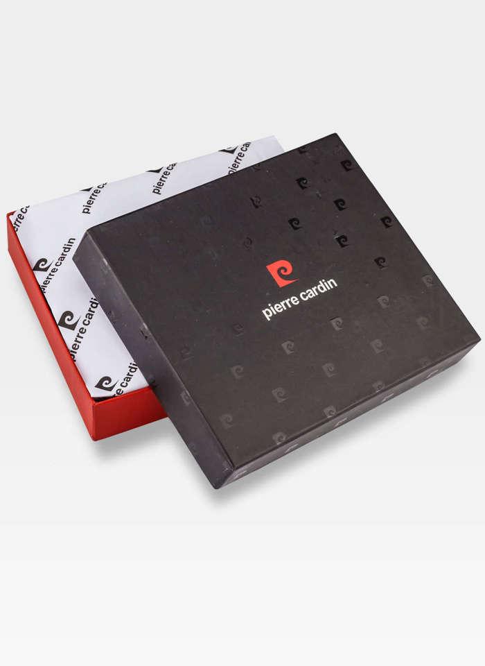 Pierre Cardin Portfel Męski Skórzany Poziomy Czarny 8806 z Ochroną RFID