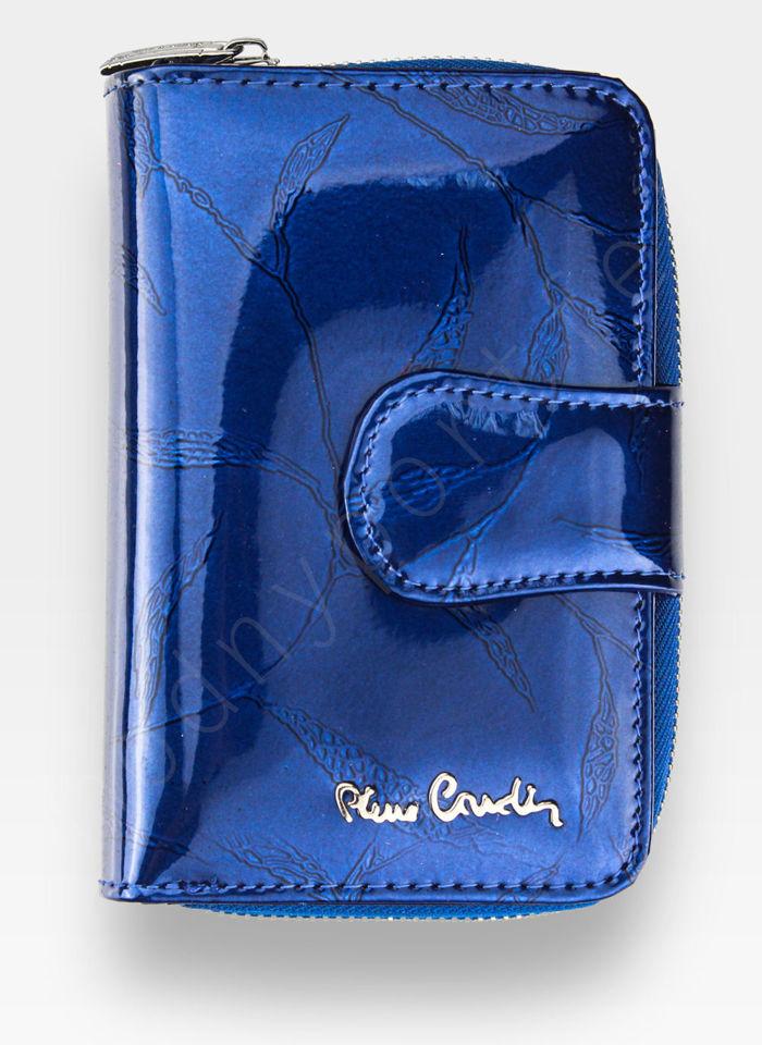 Portfel Damski Pierre Cardin Skórzany Niebieski w Liście 115