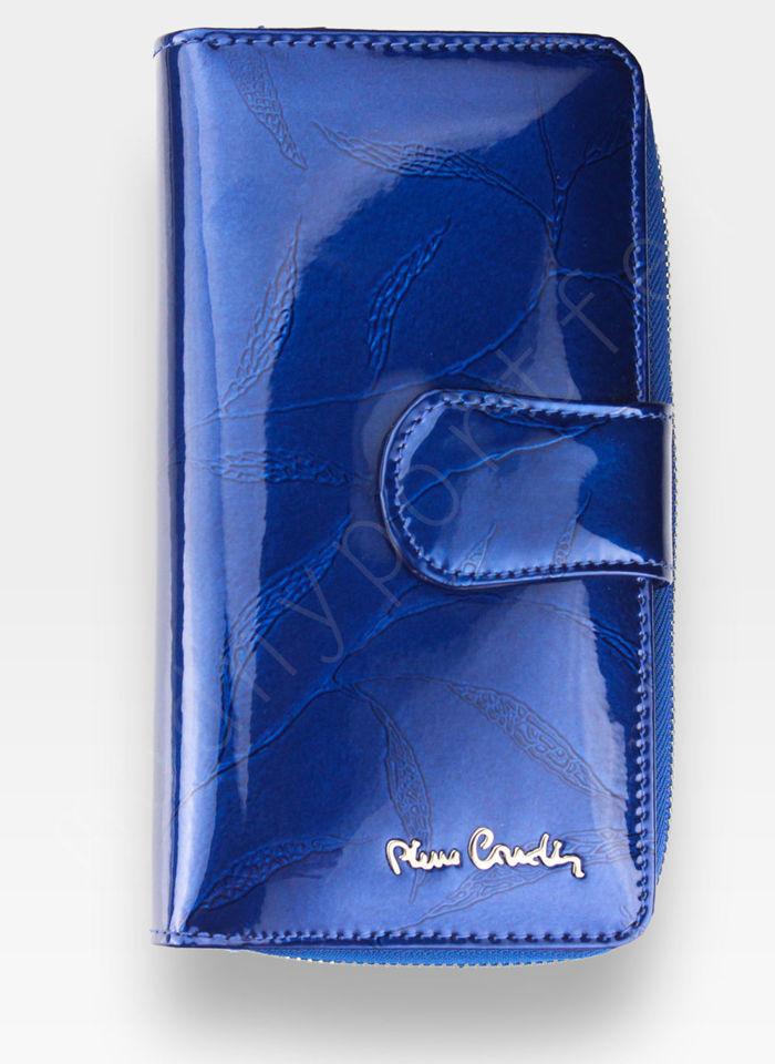 Portfel Damski Pierre Cardin Skórzany Niebieski w Liście 116
