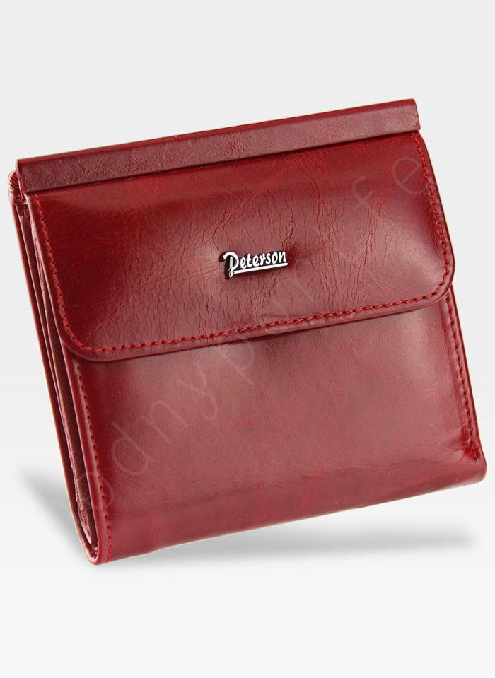 Portfel Damski Skórzany PETERSON 499 Czerwony