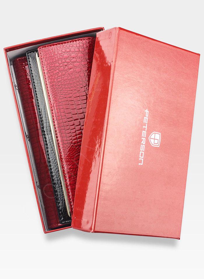 Portfel Damski Skórzany PETERSON 876 Czerwony