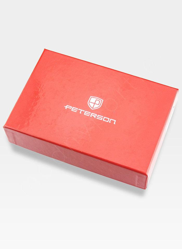 Portfel Damski Skórzany PETERSON Lakierowany 602 Różowy