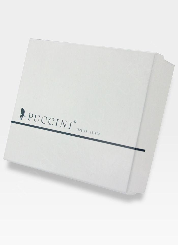Portfel Firmowy Dzielony Męski Skórzany Puccini Czarny PF 1900