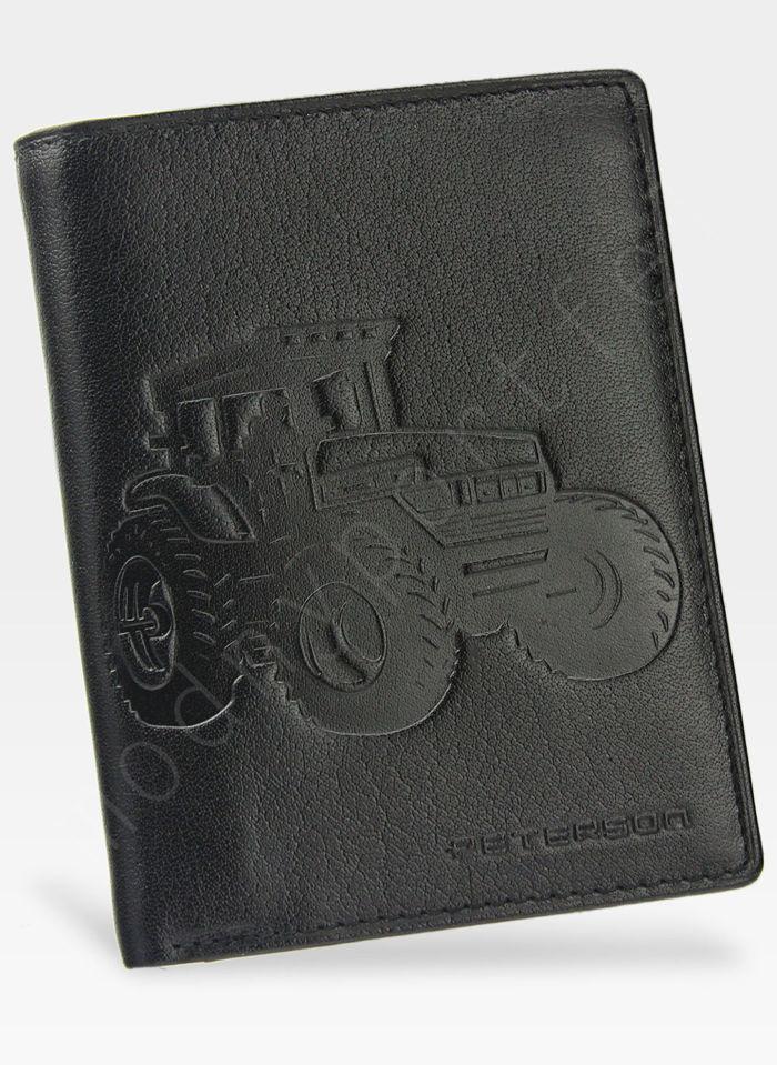 Portfel Męski Peterson Skórzany 348 TRAKTOR Mieści Dowód Rejestracyjny w Etui!