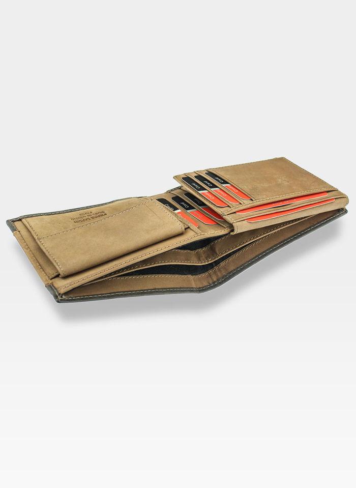 Portfel Męski Pierre Cardin Skórzany Brązowy Tilak13 Hunter 8806