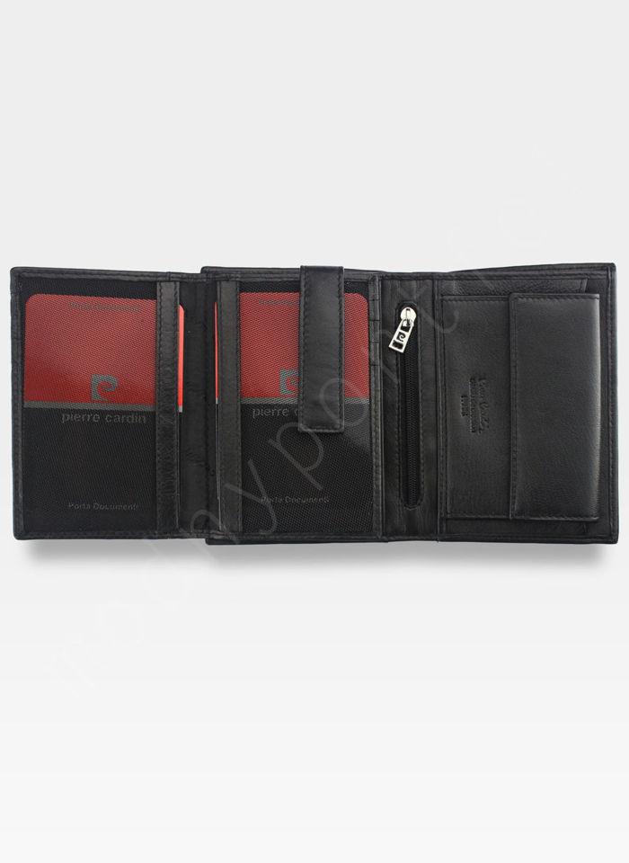 Portfel Męski Pierre Cardin Skórzany Klasyczny Czarny Tilak06 330 RFID