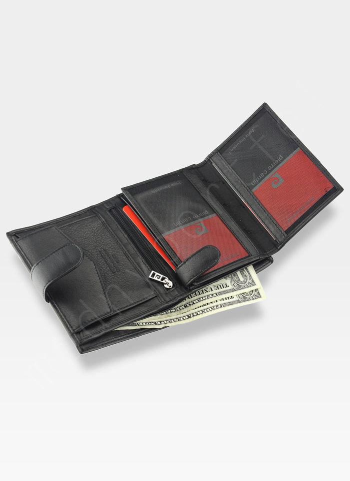 Portfel Męski Pierre Cardin Skórzany Klasyczny Pionowy Zapinany Tilak25 326A RFID