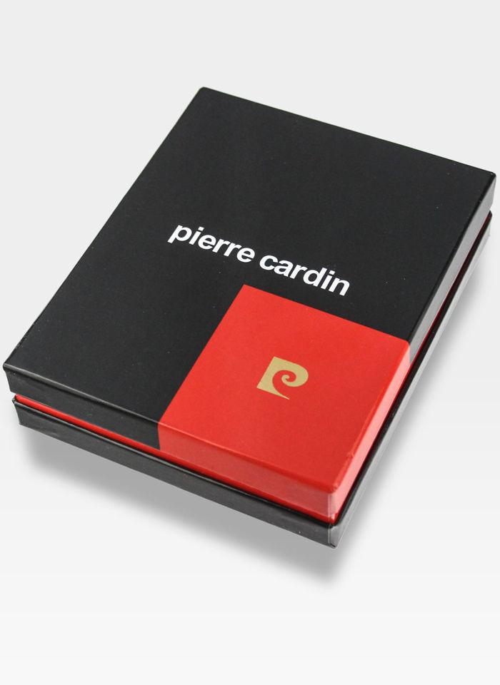 Portfel Męski Pierre Cardin Skórzany Poziomy Czarny Tilak34 8805 Nero/Rosso