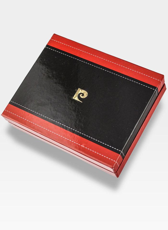 Portfel Skórzany Męski Pierre Cardin Cardholder Mały Czarny Tilak39 P02