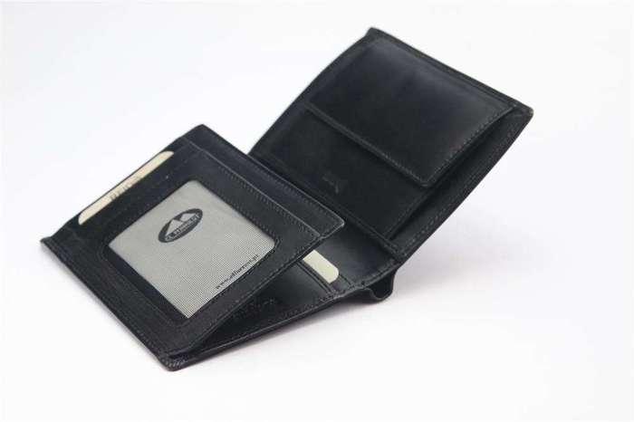Portfel męski skórzany EL FORREST 861-62 RFID czarny + czerwony