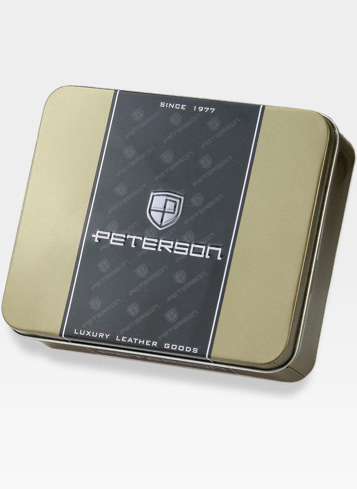 SKÓRZANY PORTFEL MĘSKI PETERSON ŁAŃCUCH + GRATIS !