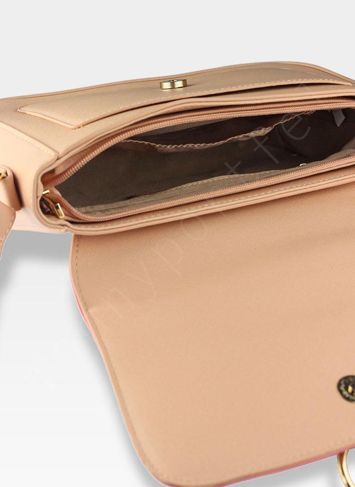 Torebka skóra ekologiczna Listonoszka na ramię Peterson Sunny 2 Różowa