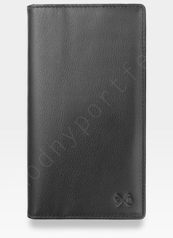 Tumble and Hide Bezpieczny Cardholder Męski Skórzany Czarny RFID 2310 17 1